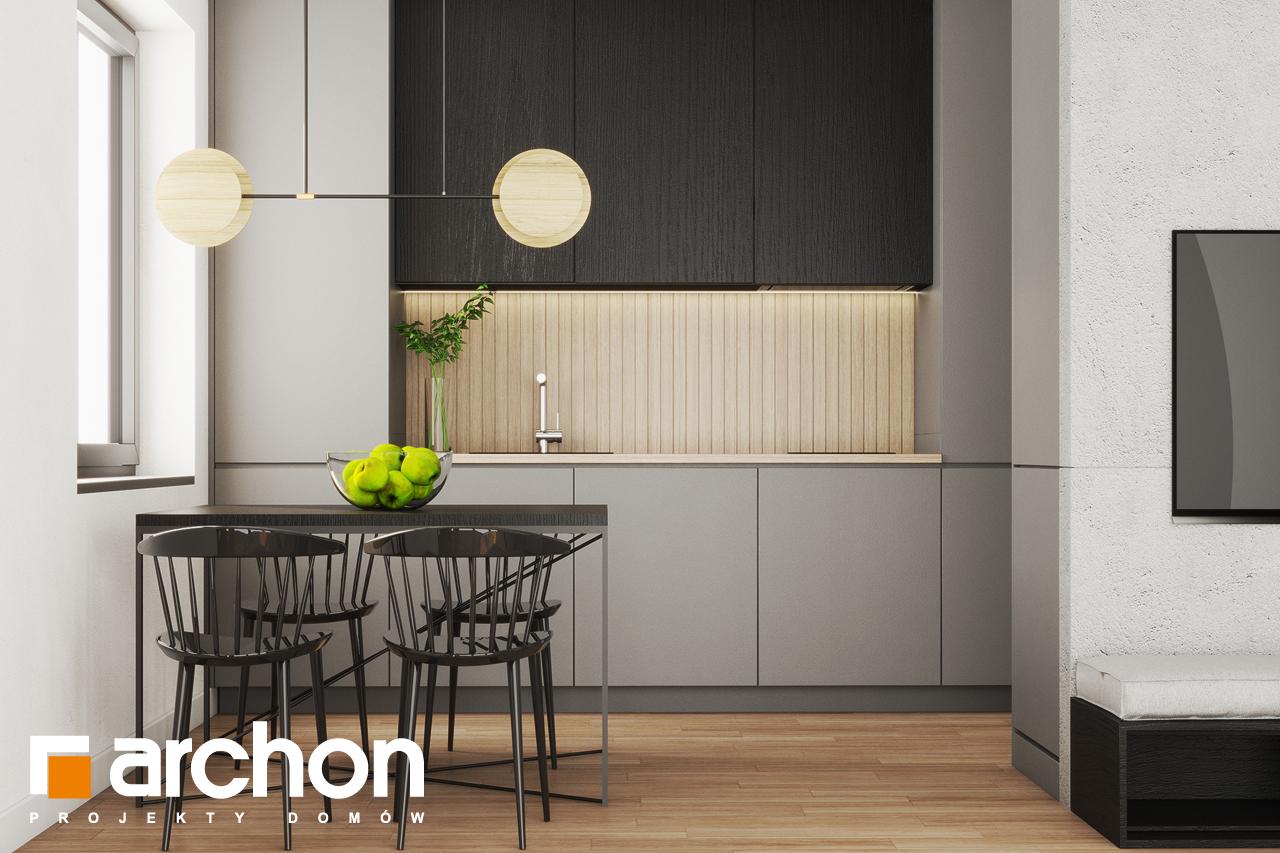 Проект будинку ARCHON+ Літній будиночок в крокусах 4 візуалізація кухні 1 від 1