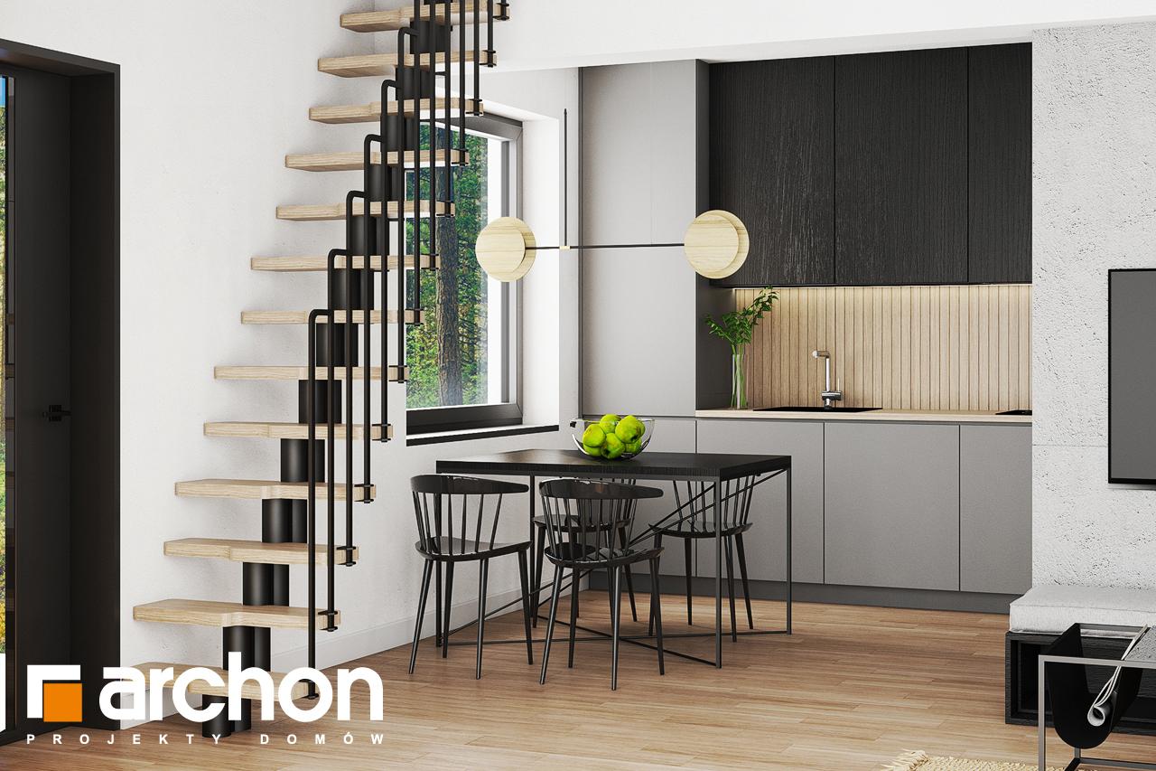 Проект будинку ARCHON+ Літній будиночок в крокусах 4 візуалізація кухні 1 від 2