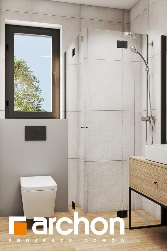 Проект будинку ARCHON+ Літній будиночок в крокусах 4 візуалізація ванни (візуалізація 3 від 1)
