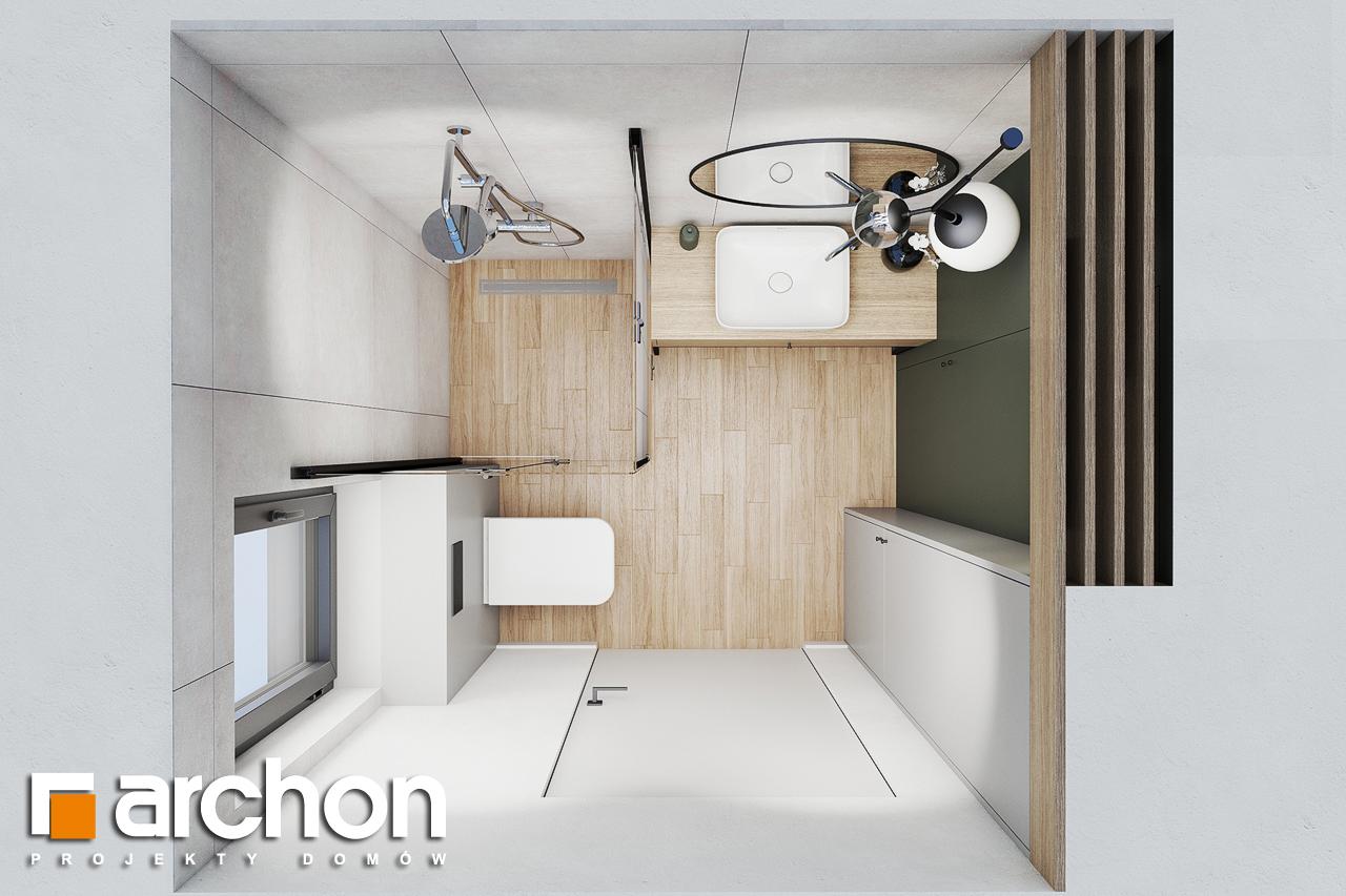 Проект будинку ARCHON+ Літній будиночок в крокусах 4 візуалізація ванни (візуалізація 3 від 4)