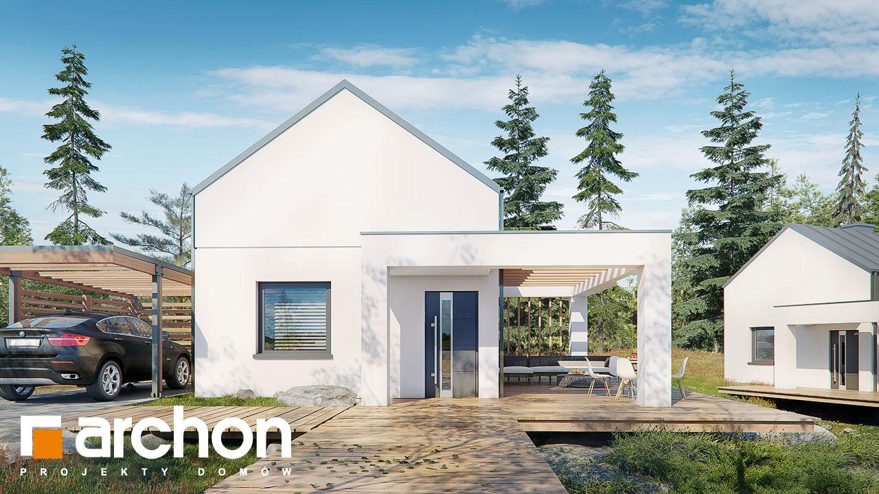 Проект будинку ARCHON+ Літній будиночок в крокусах 4 Вид 2