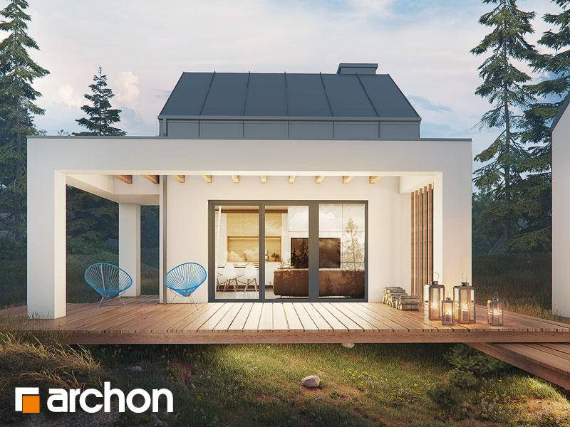 Проект будинку ARCHON+ Літній будиночок в крокусах 4 Вид 1