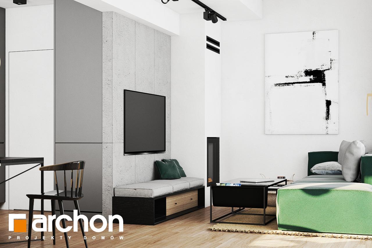 Проект будинку ARCHON+ Літній будиночок в крокусах 4 денна зона (візуалізація 1 від 3)