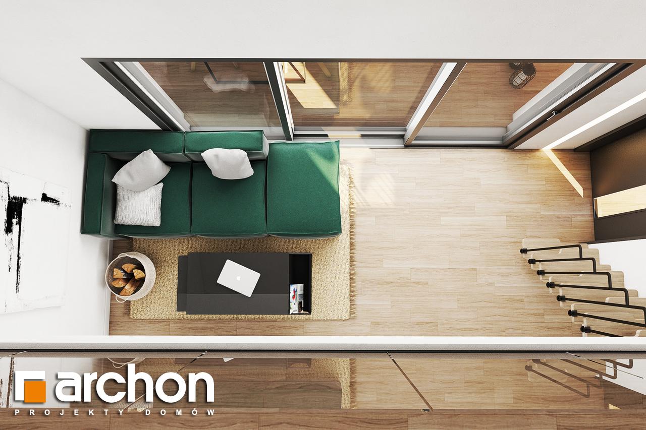 Проект будинку ARCHON+ Літній будиночок в крокусах 4 денна зона (візуалізація 1 від 7)