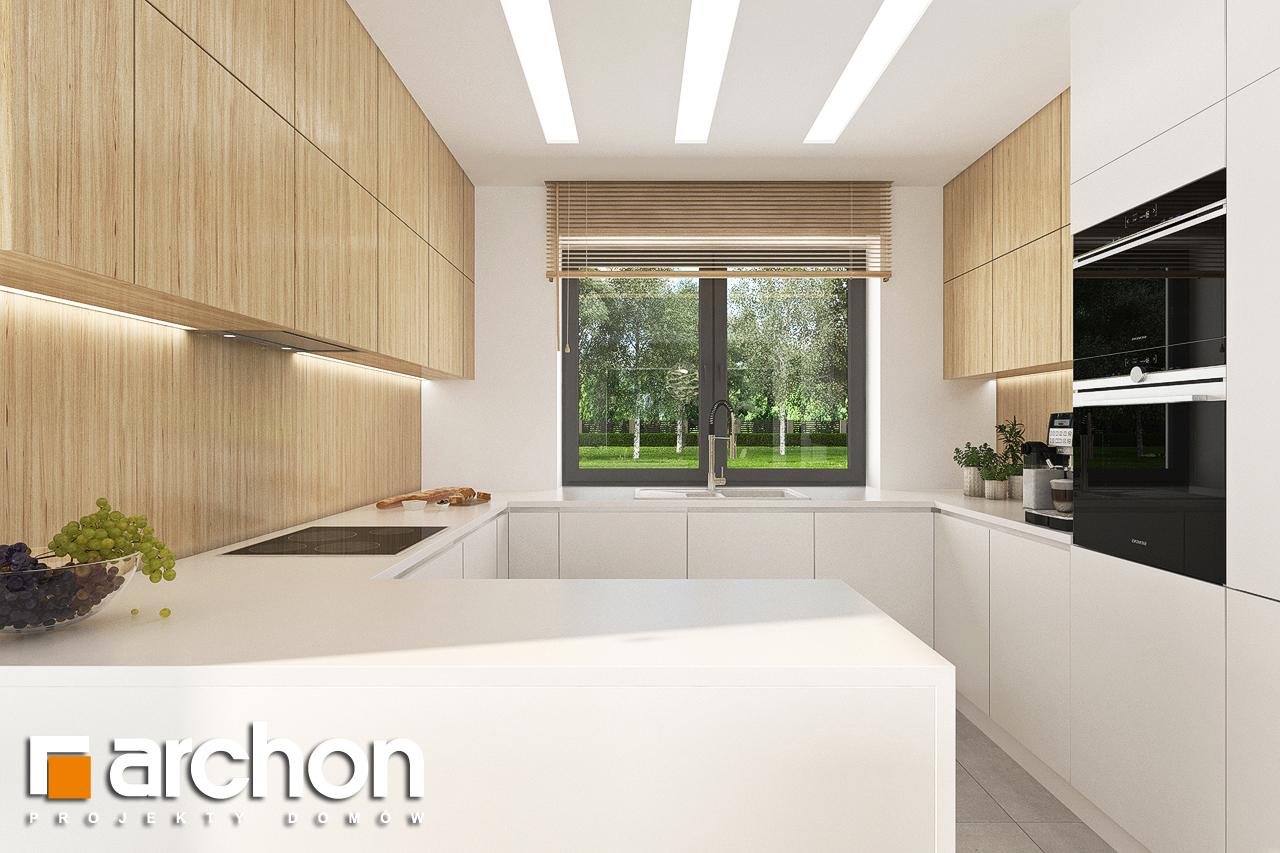 Проект будинку ARCHON+ Будинок у вівсянниці 4 візуалізація кухні 1 від 1
