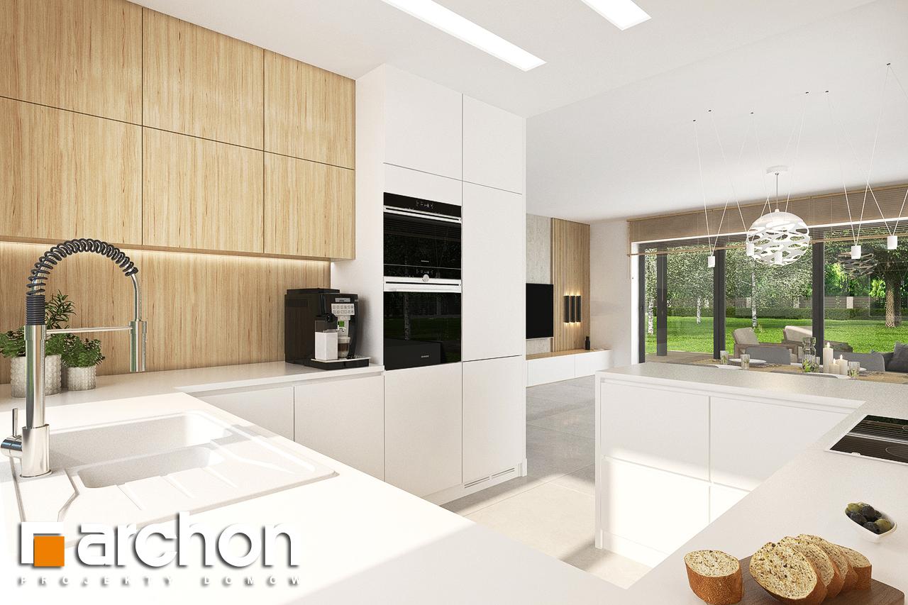 Проект будинку ARCHON+ Будинок у вівсянниці 4 візуалізація кухні 1 від 3