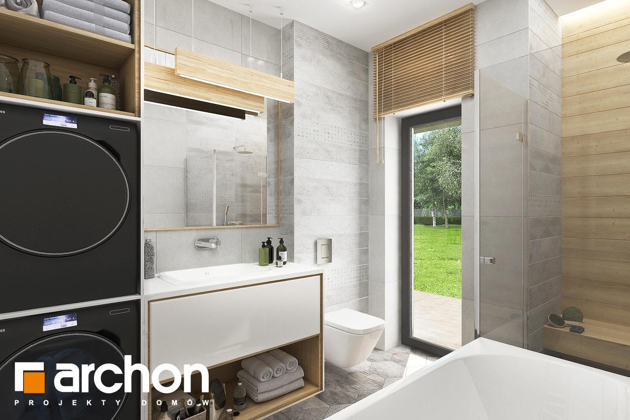 Проект будинку ARCHON+ Будинок у вівсянниці 4 візуалізація ванни (візуалізація 3 від 2)