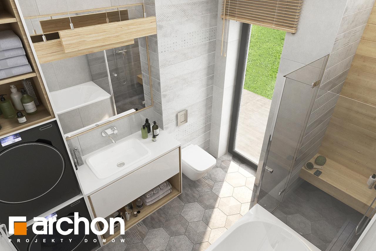 Проект будинку ARCHON+ Будинок у вівсянниці 4 візуалізація ванни (візуалізація 3 від 4)