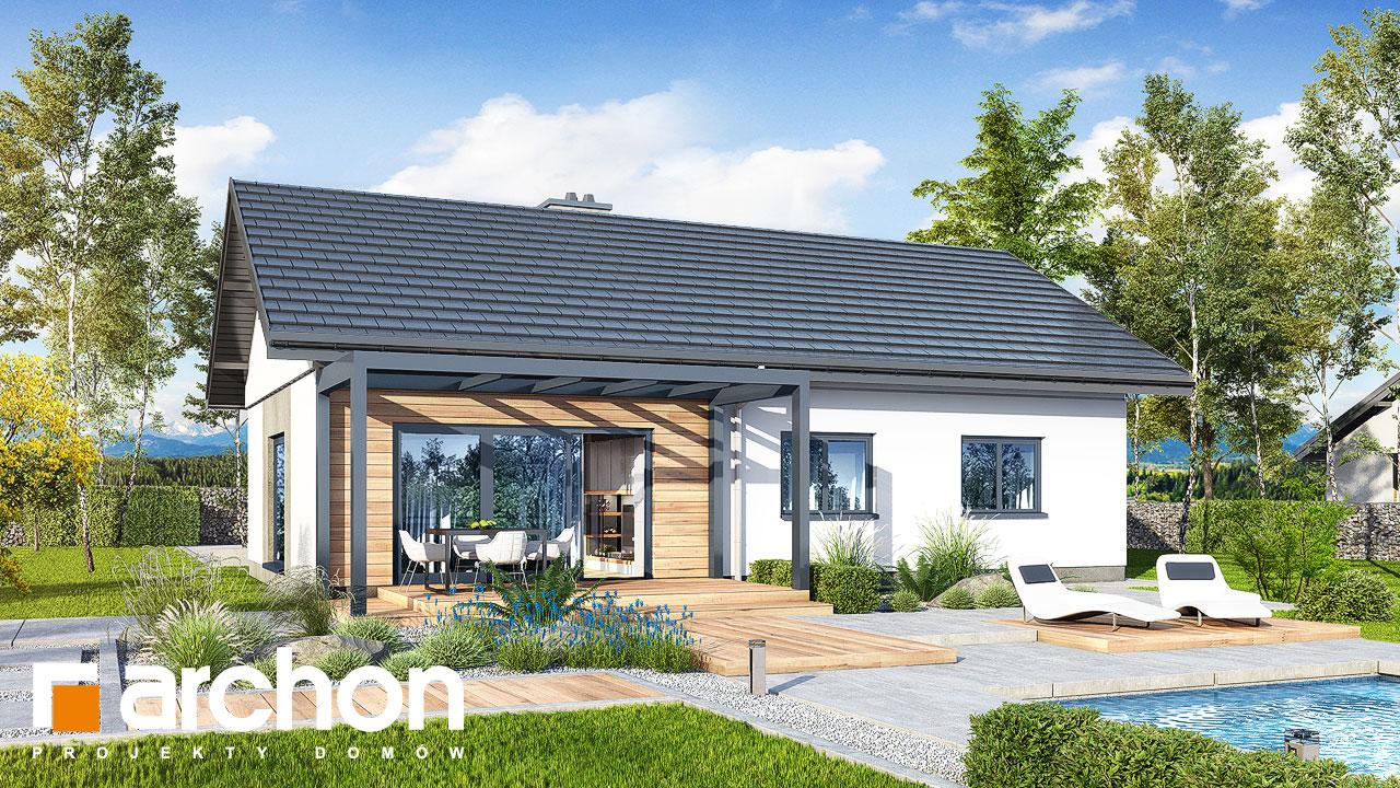 Проект будинку ARCHON+ Будинок у вівсянниці 4 Вид 2