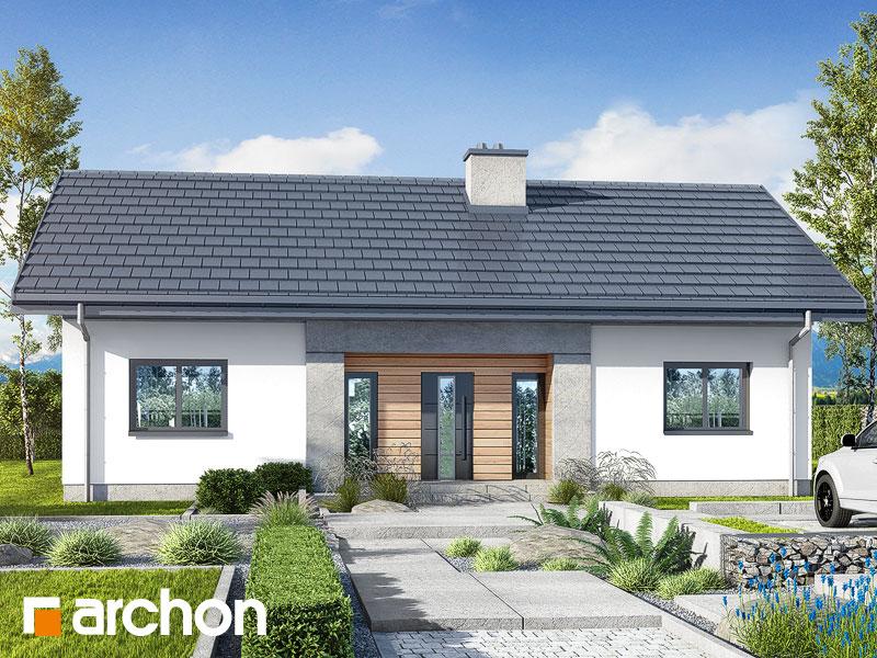 Проект будинку ARCHON+ Будинок у вівсянниці 4 Вид 1