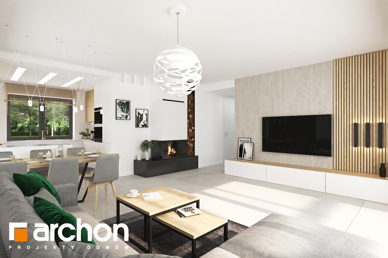 Проект будинку ARCHON+ Будинок у вівсянниці 4 денна зона (візуалізація 1 від 1)