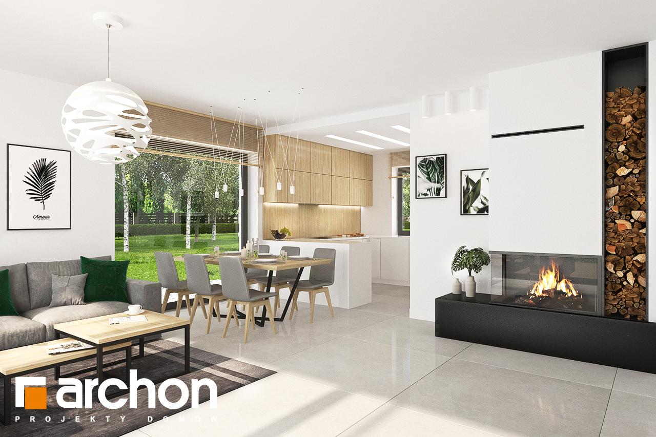 Проект будинку ARCHON+ Будинок у вівсянниці 4 денна зона (візуалізація 1 від 3)