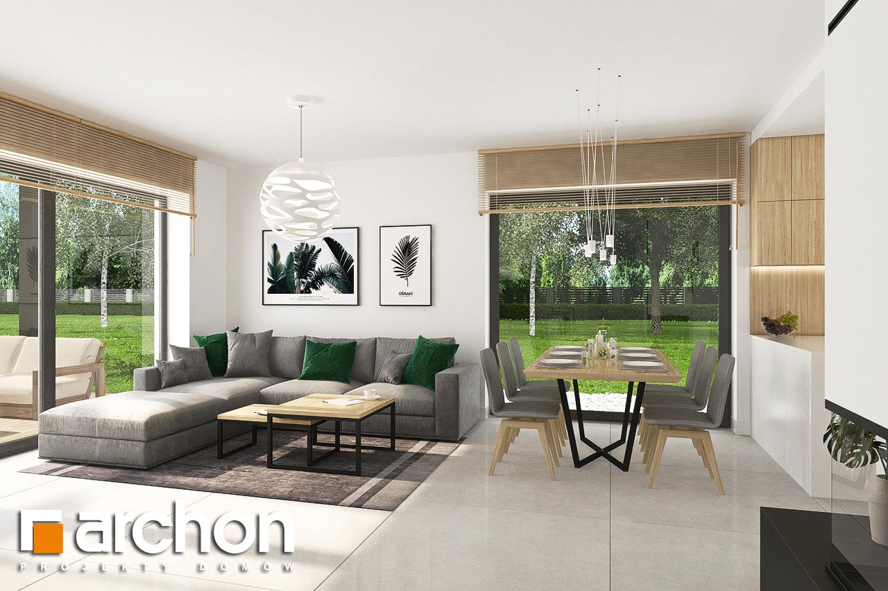 Проект будинку ARCHON+ Будинок у вівсянниці 4 денна зона (візуалізація 1 від 4)