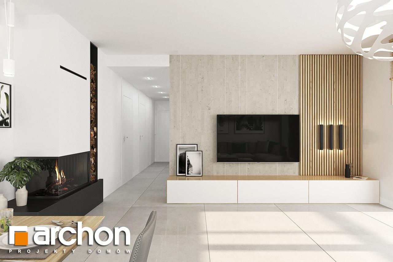 Проект будинку ARCHON+ Будинок у вівсянниці 4 денна зона (візуалізація 1 від 5)