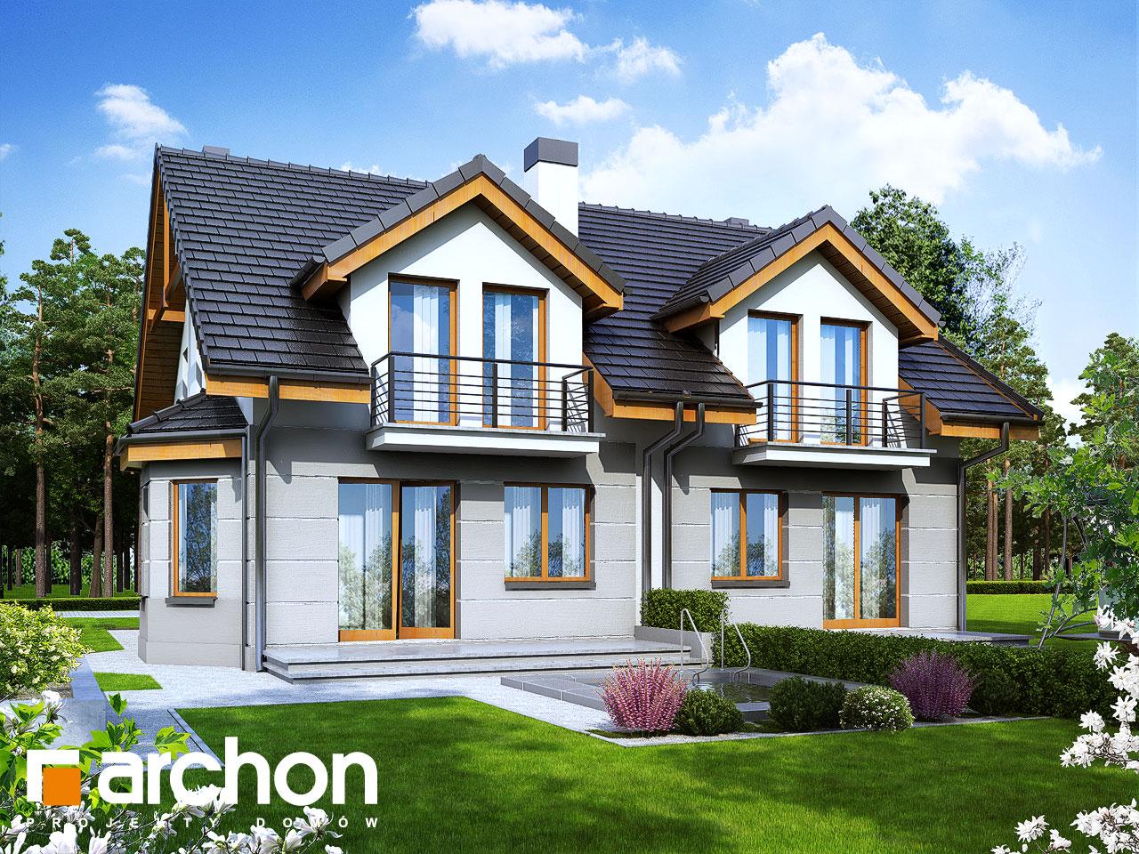 Проект будинку ARCHON+ Будинок під гінко 2 вер.2 візуалізація усіх сегментів