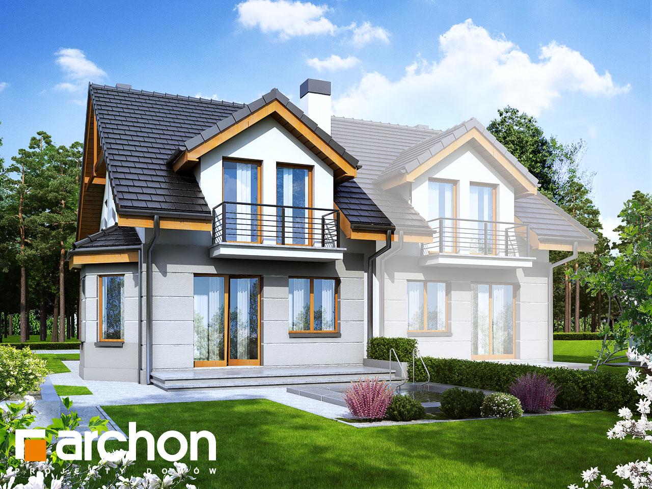 Проект будинку ARCHON+ Будинок під гінко 2 вер.2 Вид 2