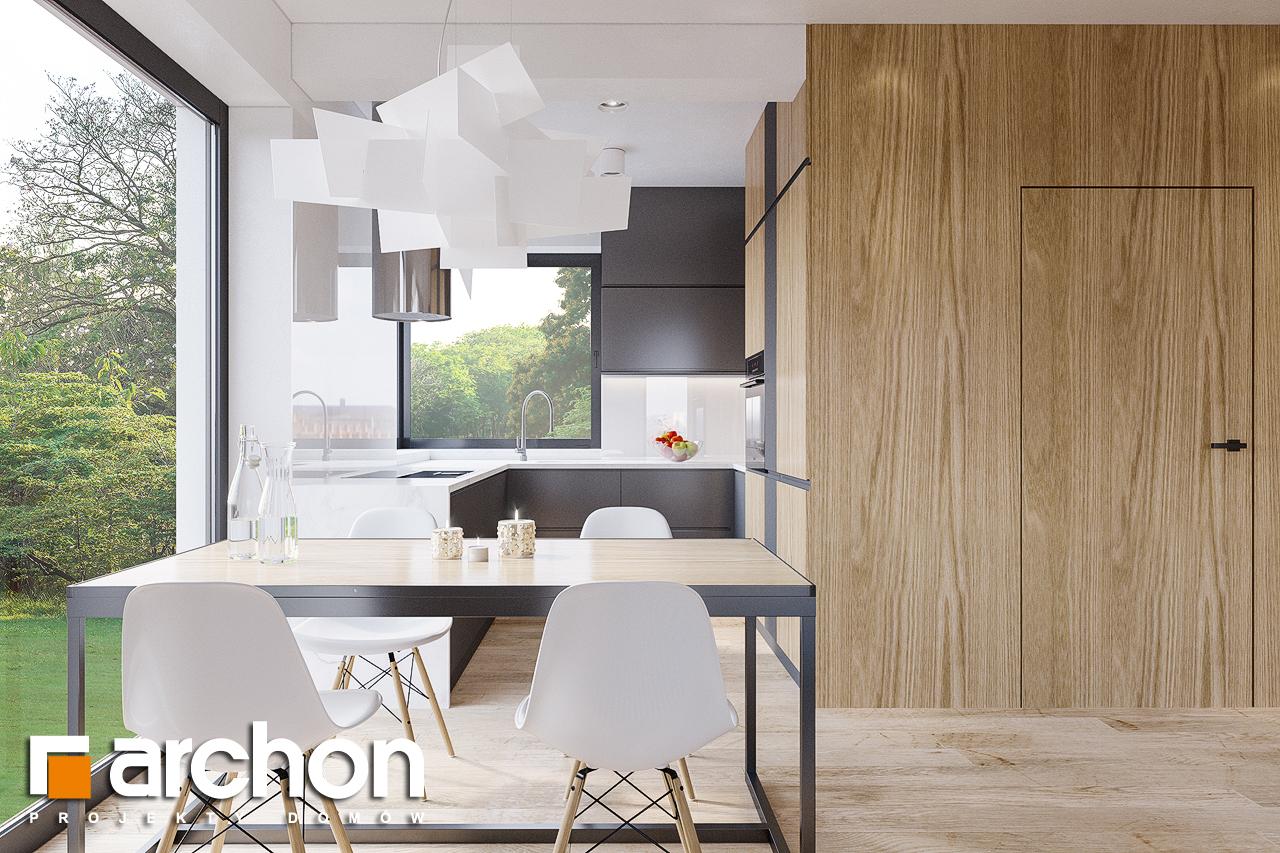 Проект будинку ARCHON+ Будинок в брусниці (ГН) візуалізація кухні 1 від 1