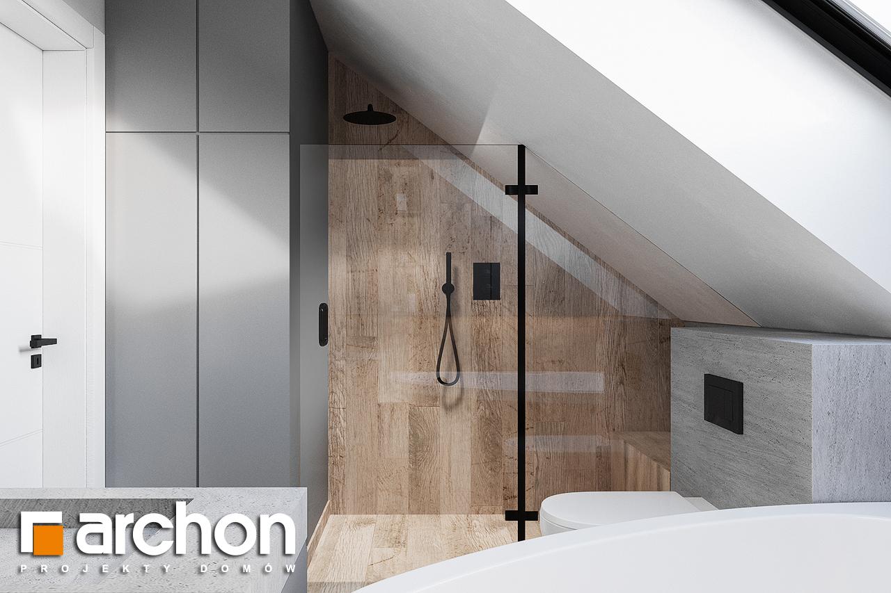 Проект будинку ARCHON+ Будинок в брусниці (ГН) візуалізація ванни (візуалізація 3 від 1)