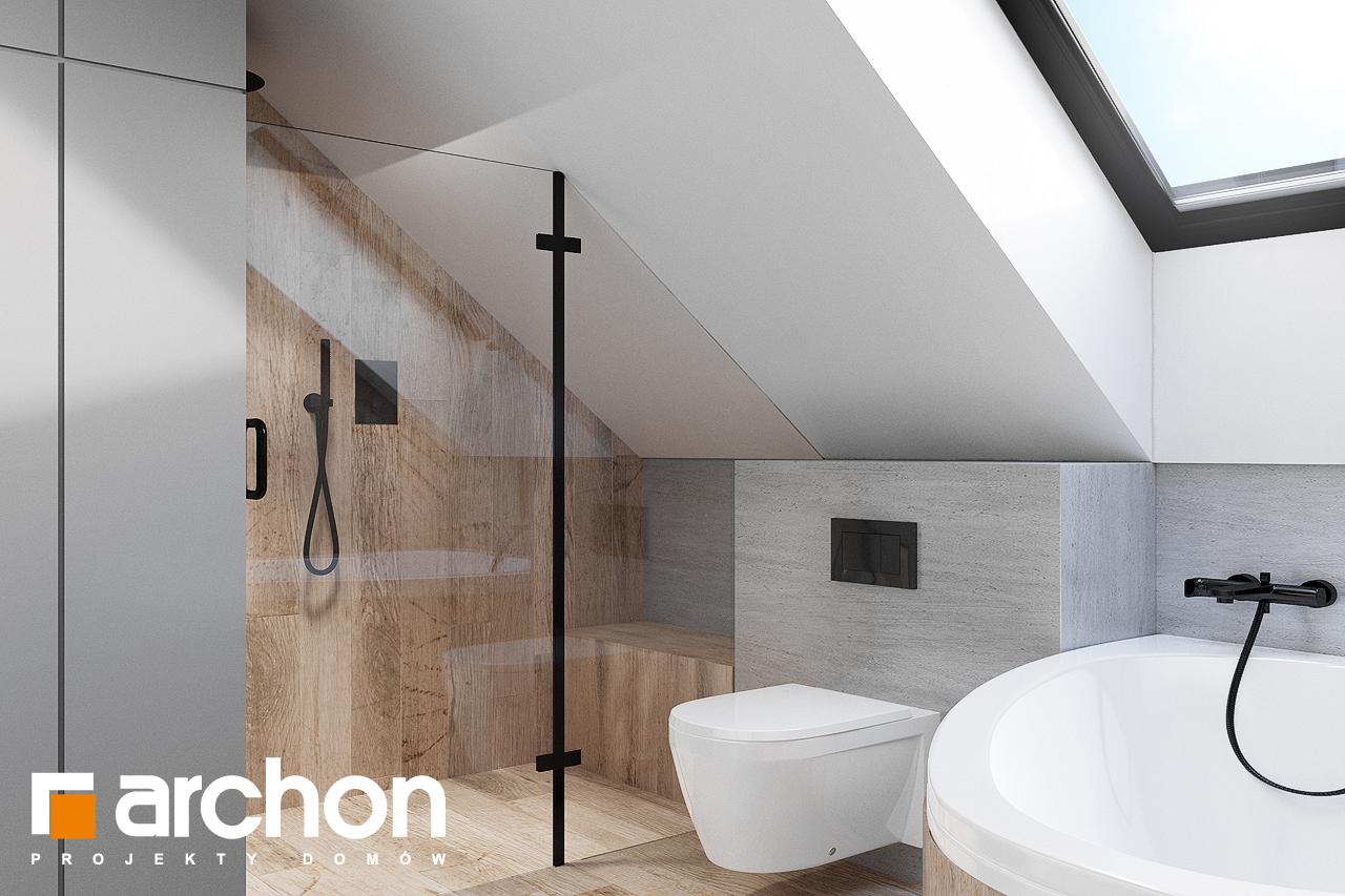 Проект будинку ARCHON+ Будинок в брусниці (ГН) візуалізація ванни (візуалізація 3 від 2)