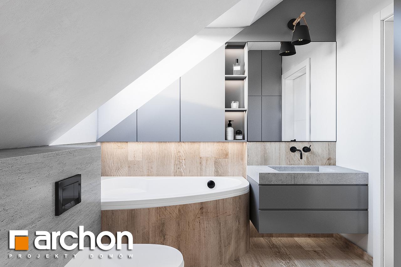 Проект будинку ARCHON+ Будинок в брусниці (ГН) візуалізація ванни (візуалізація 3 від 3)