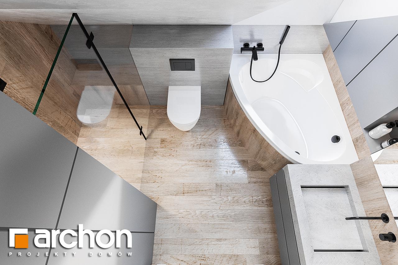 Проект будинку ARCHON+ Будинок в брусниці (ГН) візуалізація ванни (візуалізація 3 від 4)