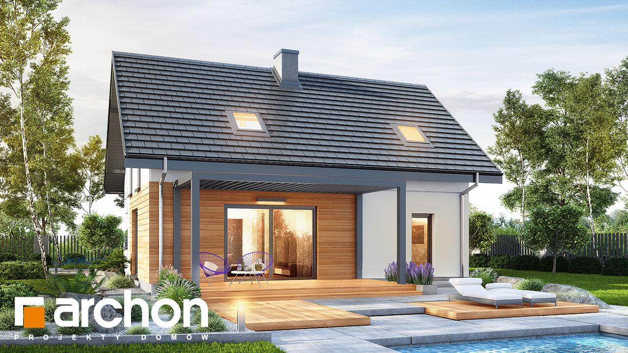 Проект будинку ARCHON+ Будинок в брусниці (ГН) Вид 2