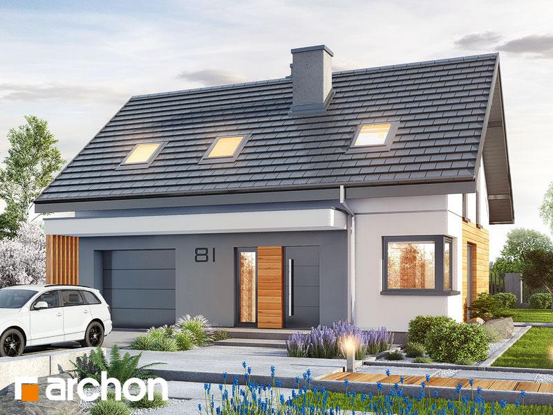 Проект будинку ARCHON+ Будинок в брусниці (ГН) Вид 1