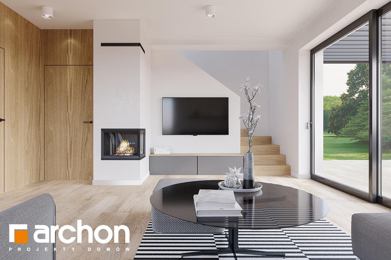Проект будинку ARCHON+ Будинок в брусниці (ГН) денна зона (візуалізація 1 від 1)