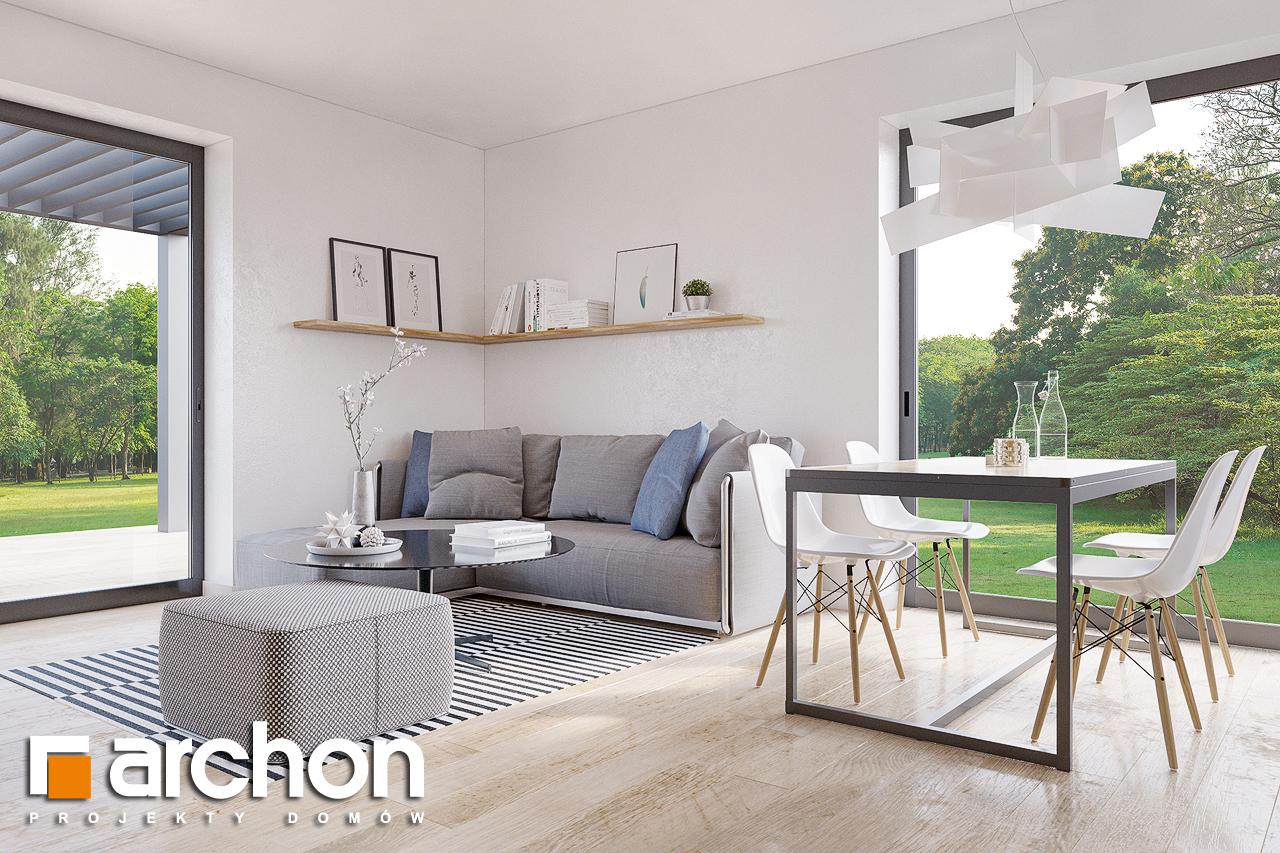Проект будинку ARCHON+ Будинок в брусниці (ГН) денна зона (візуалізація 1 від 2)