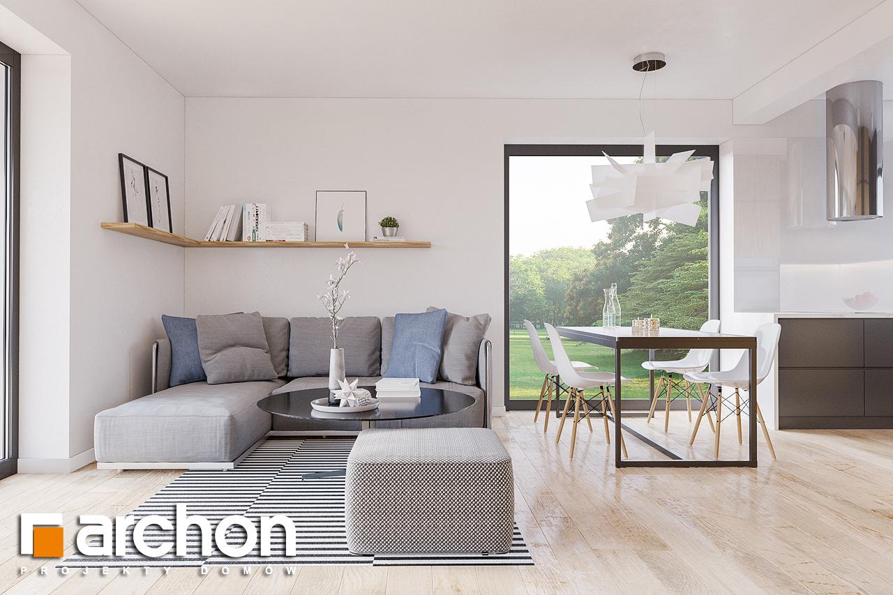 Проект будинку ARCHON+ Будинок в брусниці (ГН) денна зона (візуалізація 1 від 3)