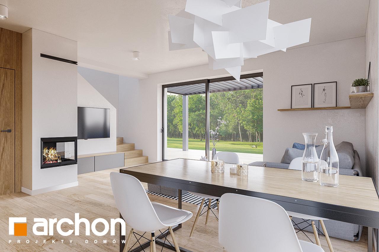 Проект будинку ARCHON+ Будинок в брусниці (ГН) денна зона (візуалізація 1 від 5)