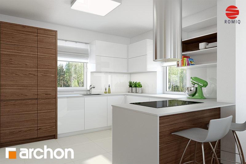 Проект будинку ARCHON+ Будинок в нектаринах 2 (П) вер.2 візуалізація кухні 1 від 1