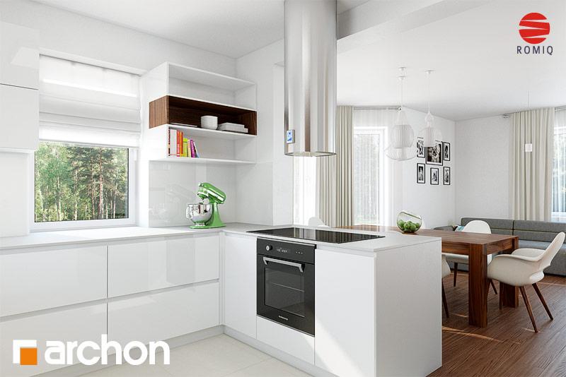 Проект будинку ARCHON+ Будинок в нектаринах 2 (П) вер.2 візуалізація кухні 1 від 2