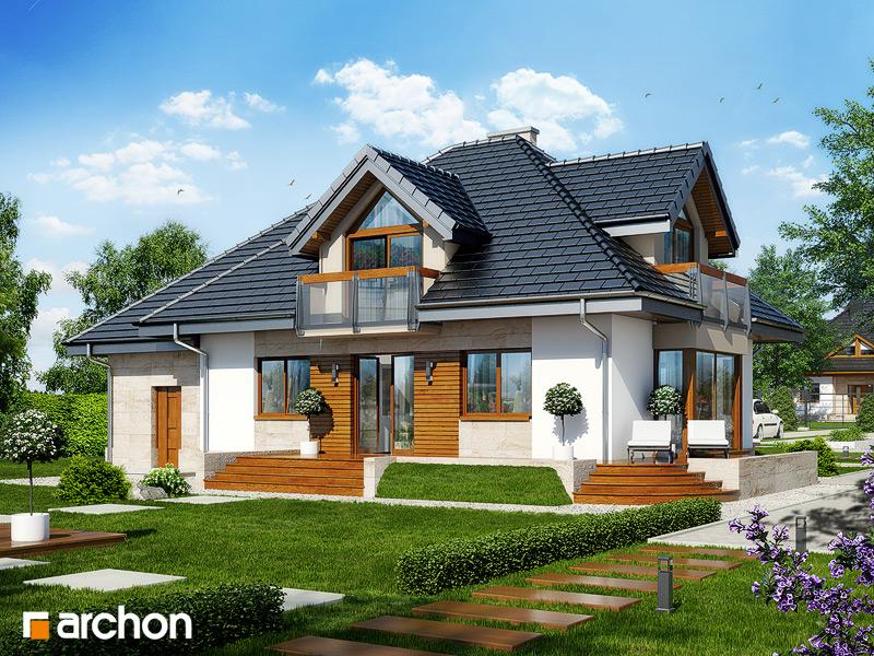 Проект будинку ARCHON+ Будинок в нектаринах 2 (П) вер.2 стилізація 4