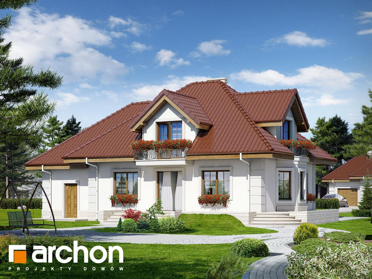 Проект будинку ARCHON+ Будинок в нектаринах 2 (П) вер.2 Вид 2