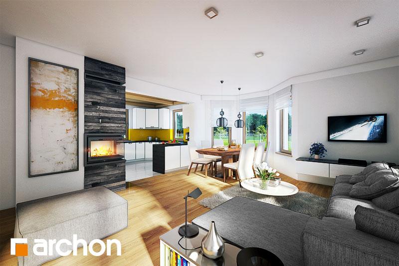 Проект будинку ARCHON+ Будинок в нектаринах 2 (П) вер.2 денна зона (візуалізація 1 від 1)