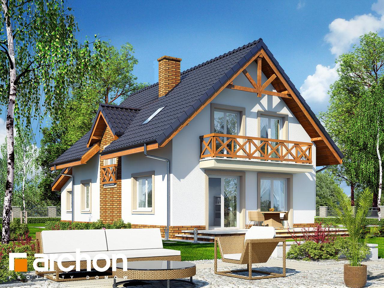 Проект будинку ARCHON+ Будинок в горошку 2 ver.3 Вид 2