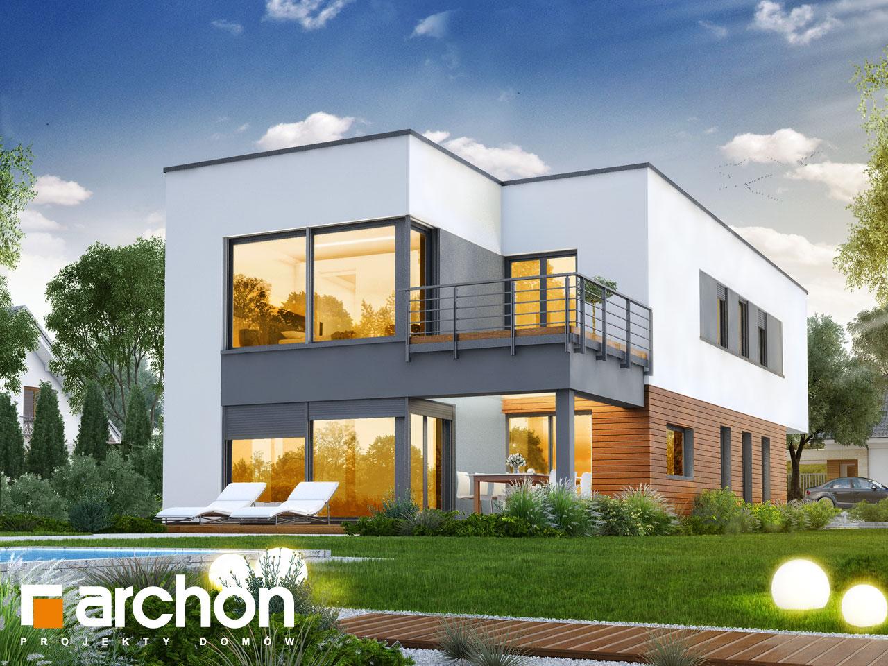 Проект будинку ARCHON+ Будинок в топінамбурах (Г2А) додаткова візуалізація