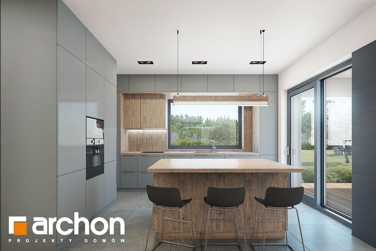 Проект дома ARCHON+ Дом в топинамбурах (Г2А) визуализация кухни 1 вид 1