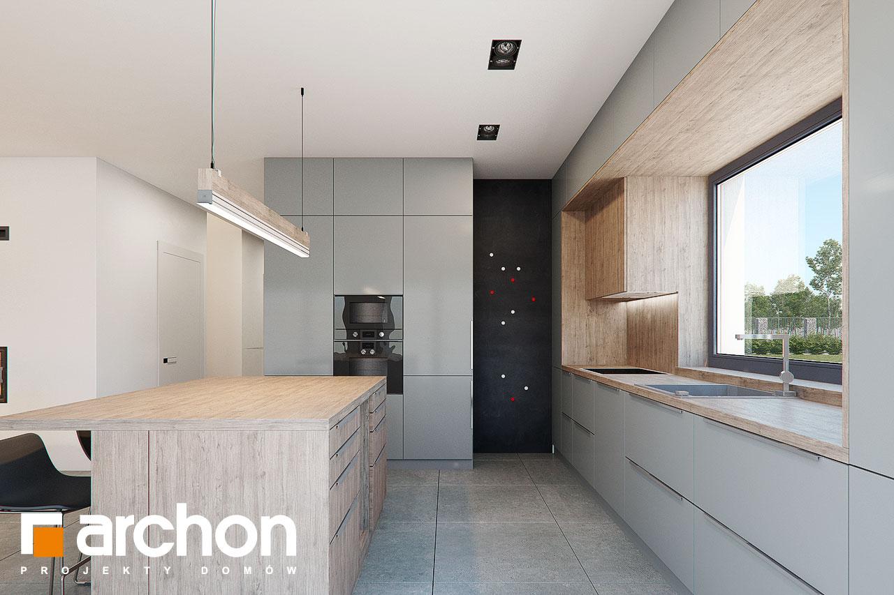 Проект дома ARCHON+ Дом в топинамбурах (Г2А) визуализация кухни 1 вид 2