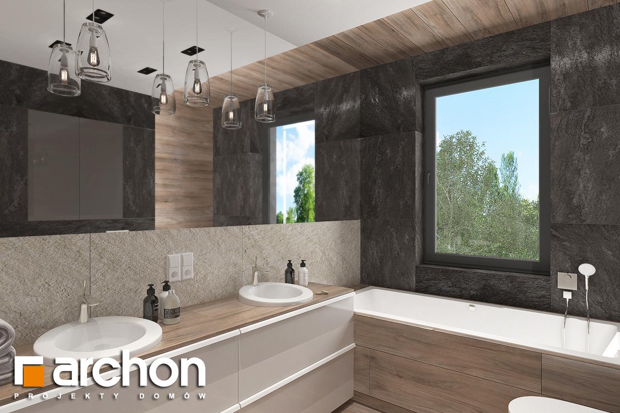 Проект будинку ARCHON+ Будинок в топінамбурах (Г2А) візуалізація ванни (візуалізація 3 від 1)
