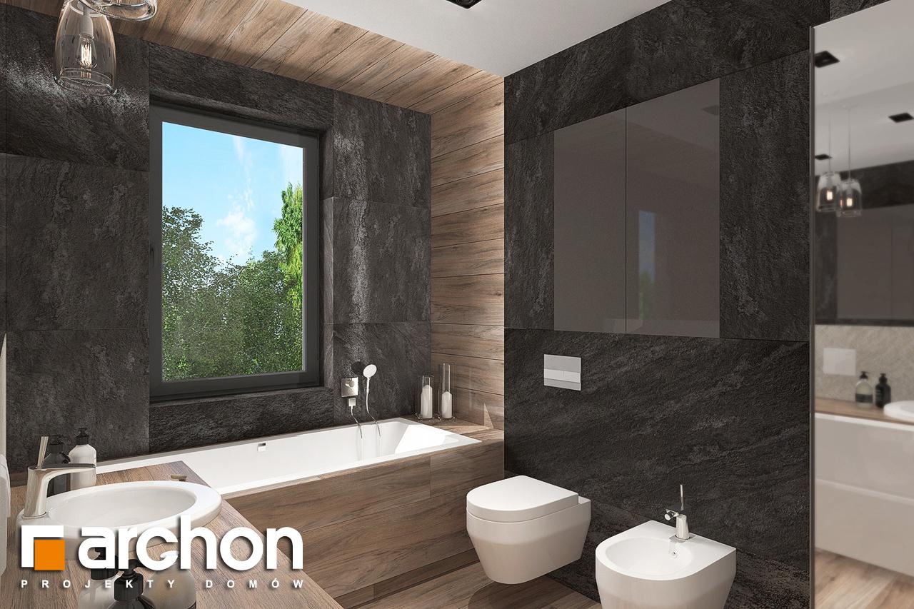 Проект будинку ARCHON+ Будинок в топінамбурах (Г2А) візуалізація ванни (візуалізація 3 від 2)