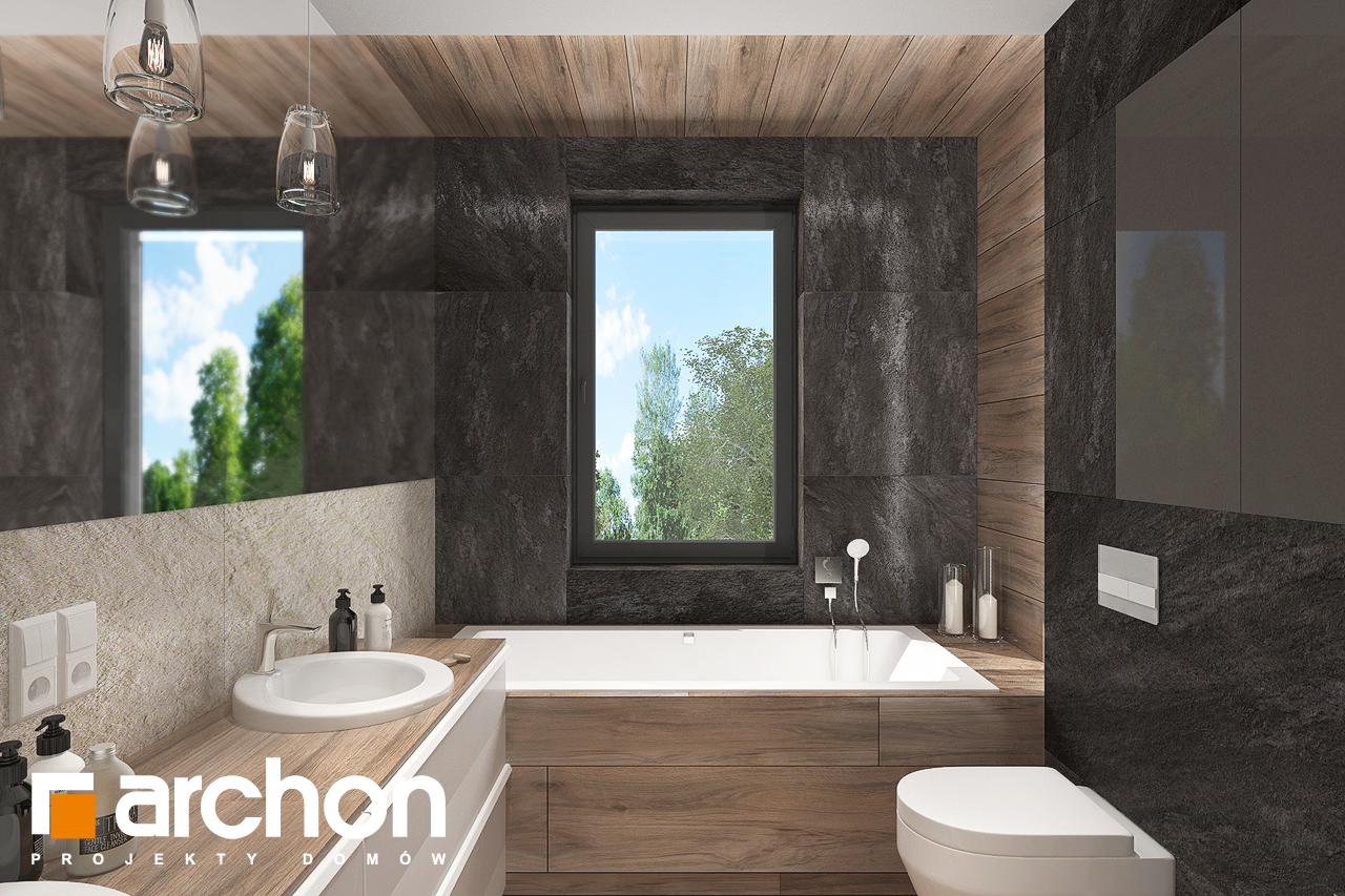Проект будинку ARCHON+ Будинок в топінамбурах (Г2А) візуалізація ванни (візуалізація 3 від 3)