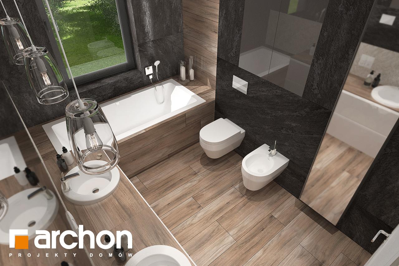 Проект будинку ARCHON+ Будинок в топінамбурах (Г2А) візуалізація ванни (візуалізація 3 від 4)