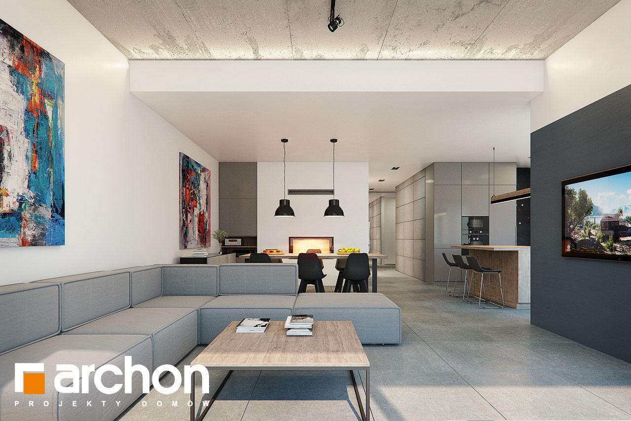 Проект будинку ARCHON+ Будинок в топінамбурах (Г2А) денна зона (візуалізація 1 від 3)