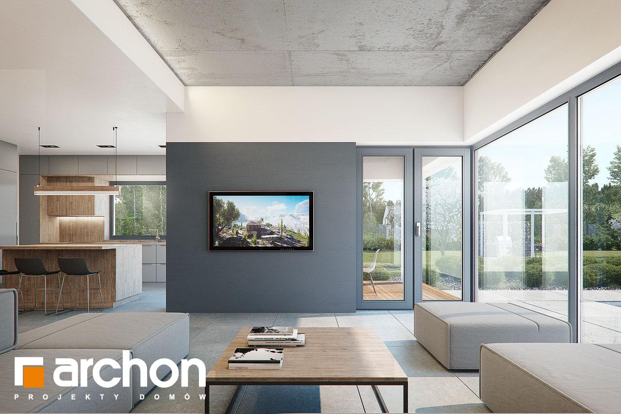 Проект будинку ARCHON+ Будинок в топінамбурах (Г2А) денна зона (візуалізація 1 від 4)