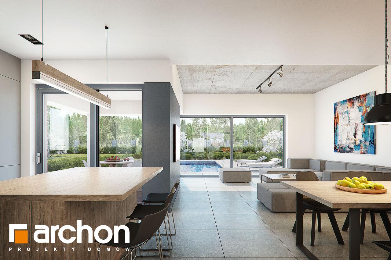 Проект дома ARCHON+ Дом в топинамбурах (Г2А) дневная зона (визуализация 1 вид 1)