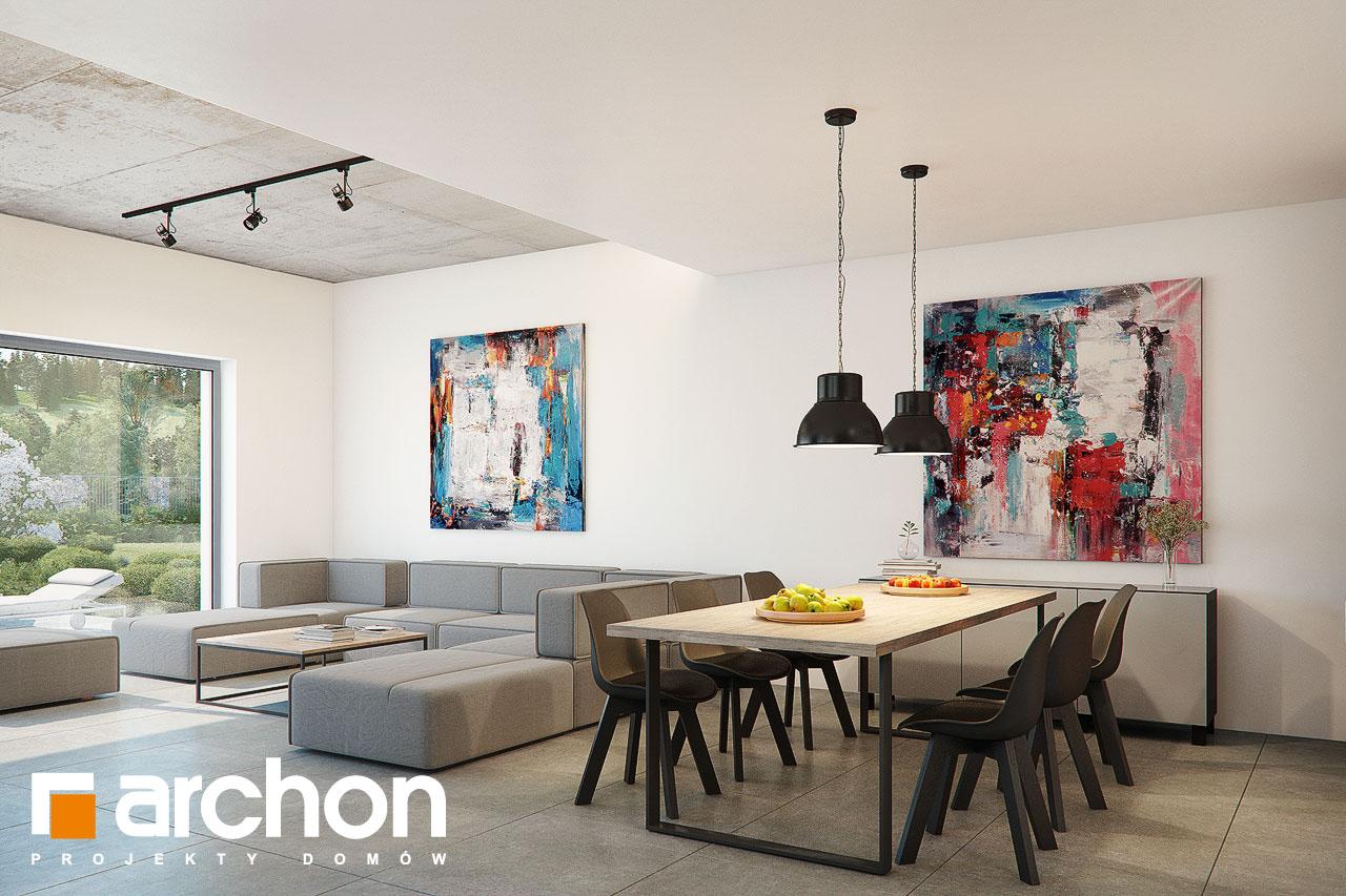 Проект дома ARCHON+ Дом в топинамбурах (Г2А) дневная зона (визуализация 1 вид 2)