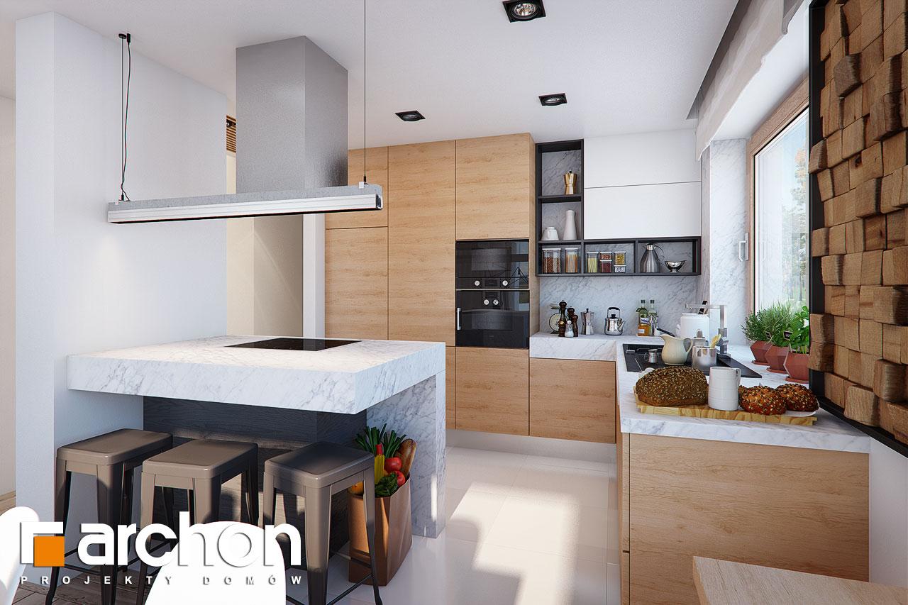 Проект будинку ARCHON+ Будинок в купині 2 (Г2) візуалізація кухні 1 від 1
