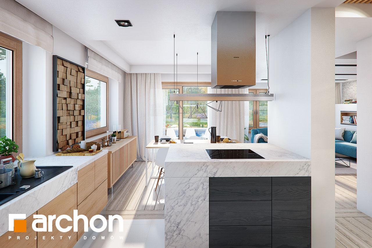 Проект будинку ARCHON+ Будинок в купині 2 (Г2) візуалізація кухні 1 від 2